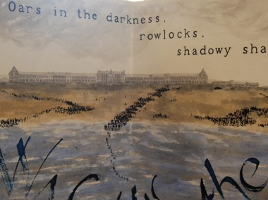 The Chateau (detail from Thames to Dunkirk by Liz Mathews)