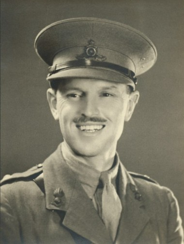 BG Bonallack in uniform (c. 1940) Image shown by kind permission of BG Bonallack's family