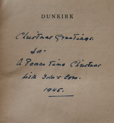 Inscription in AD Divine's Dunkirk