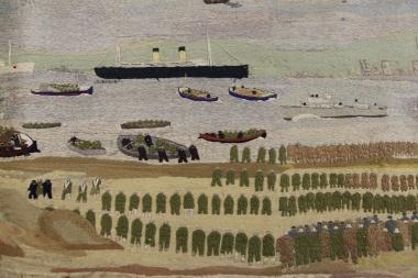 Detail from John Craske's Dunkirk Tapestry